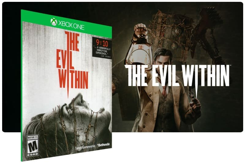 Banner do game The Evil Within em mídia digital para Xbox One