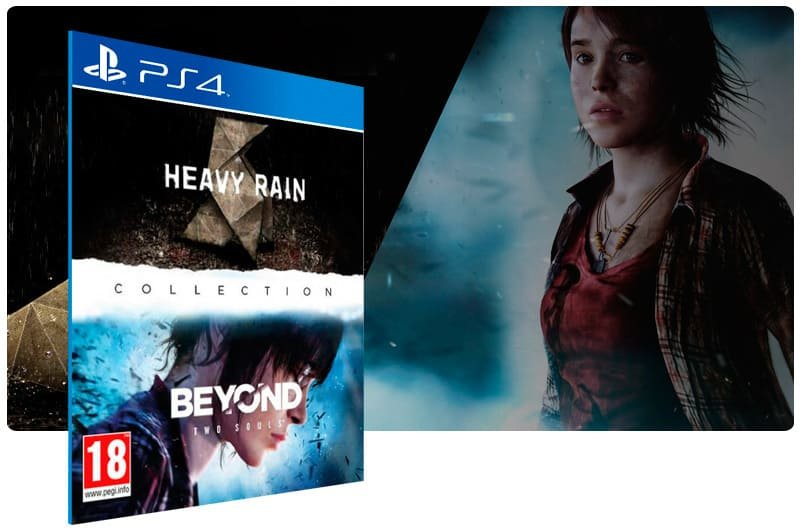 Banner do game The Heavy Rain Beyond Two Souls Collection para PS4