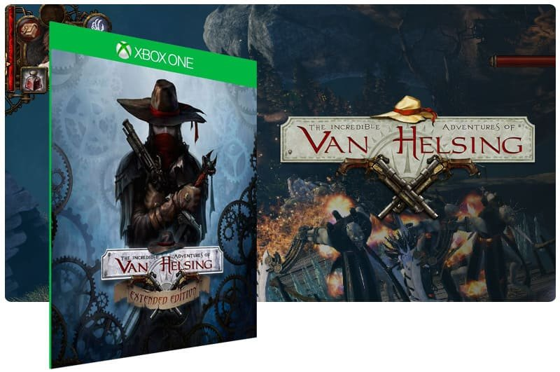 Banner do game The Incredible Adventures of Van Helsing em mídia digital para Xbox One