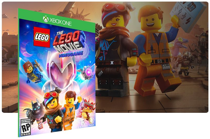 Banner do game The LEGO Movie 2 Videogame em mídia digital para Xbox One