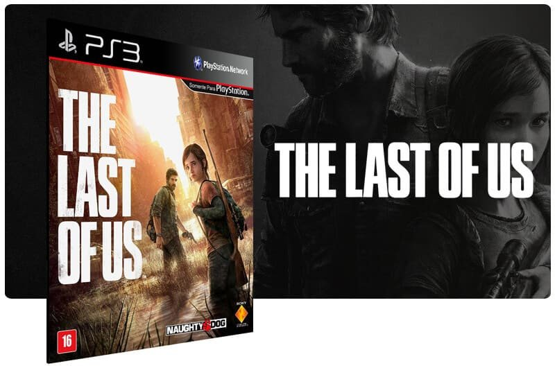 Banner do game The Last of Us para PS3