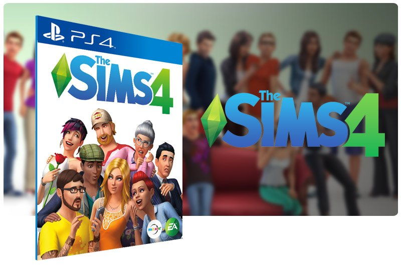 Banner do game The Sims 4 para PS4