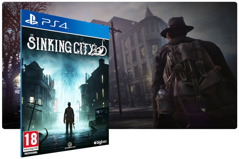 Banner do game The Sinking City em mídia digital para PS4