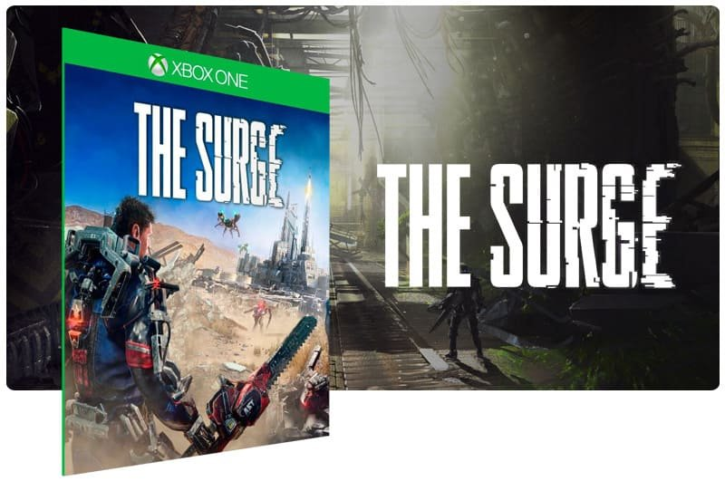 Banner do game The Surge em mídia digital para Xbox One