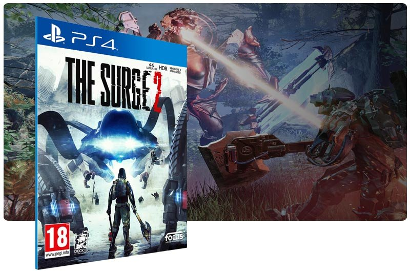 Banner do game The Surge 2 em mídia digital para PS4