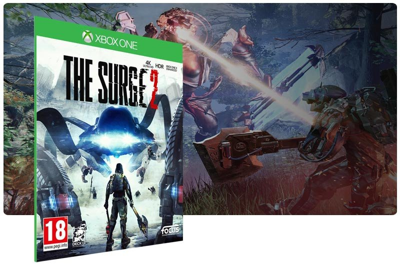 Banner do game The Surge 2 em mídia digital para Xbox One