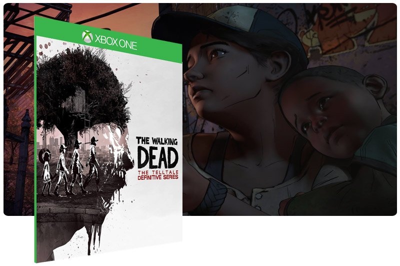 Banner do game The Walking Dead: The Telltale Definitive Series em mídia digital para Xbox One