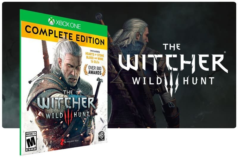 Banner do game The Witcher 3: Wild Hunt Complete Edition em mídia digital para Xbox One