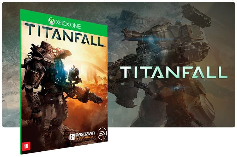 Banner do game Titanfall em mídia digital para Xbox One