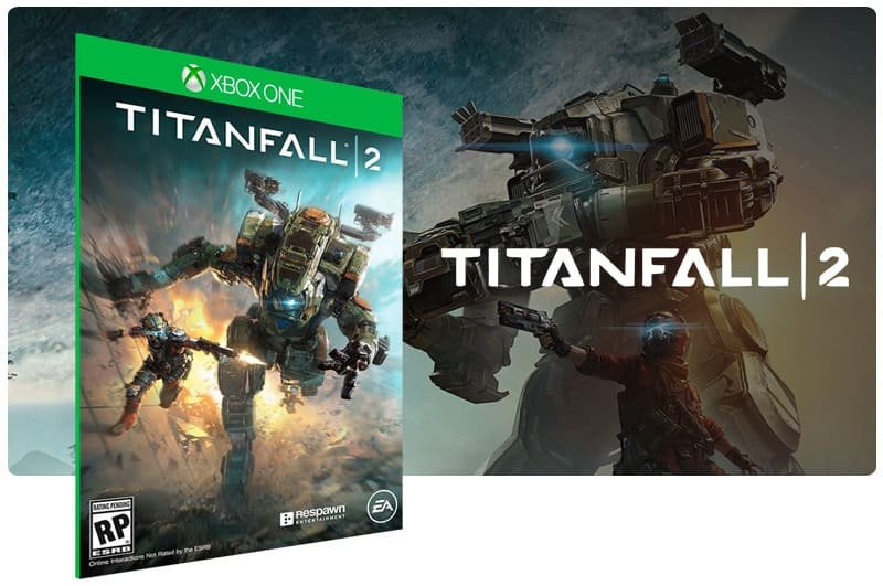 Banner do game Titanfall 2 em mídia digital para Xbox One