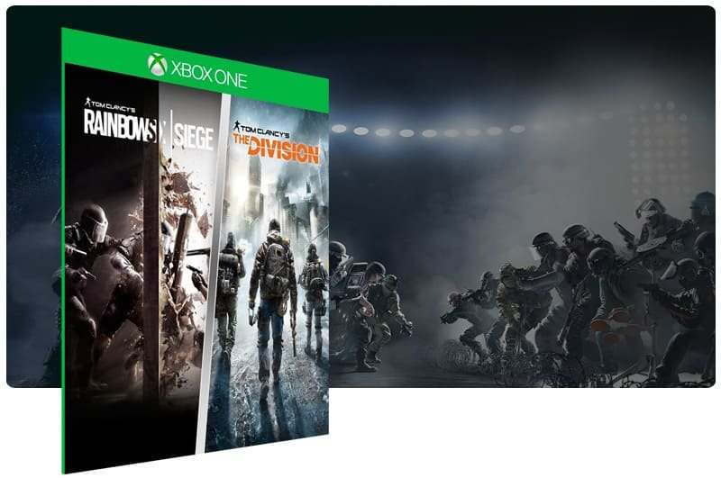 Banner do game Tom Clancy: Rainbow Six Siege + The Division em mídia digital para Xbox One