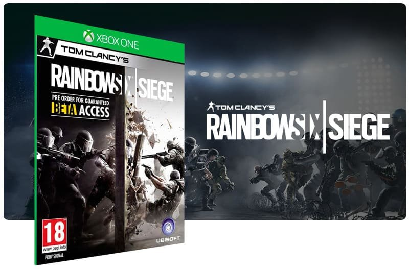 Banner do game Tom Clancy Rainbow Six: Siege em mídia digital para Xbox One