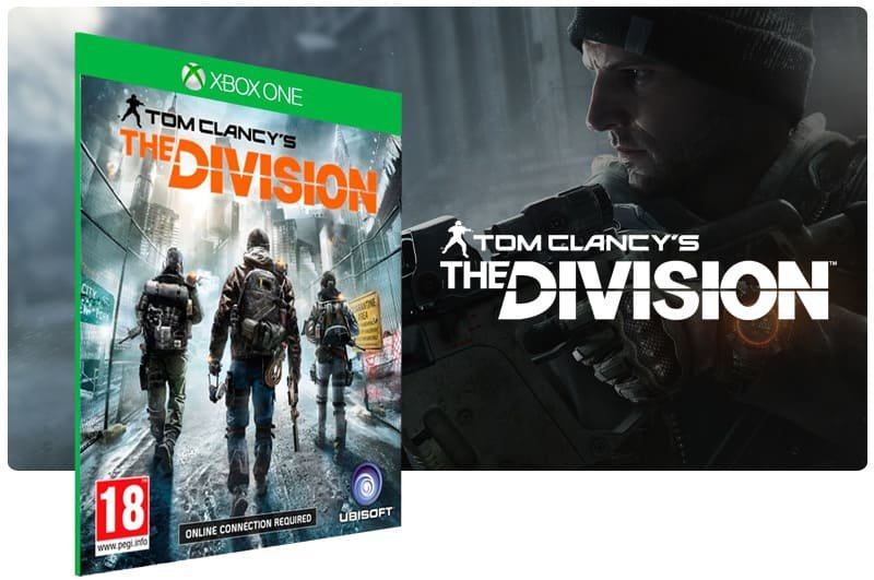 Banner do game Tom Clancy: The Division em mídia digital para Xbox One