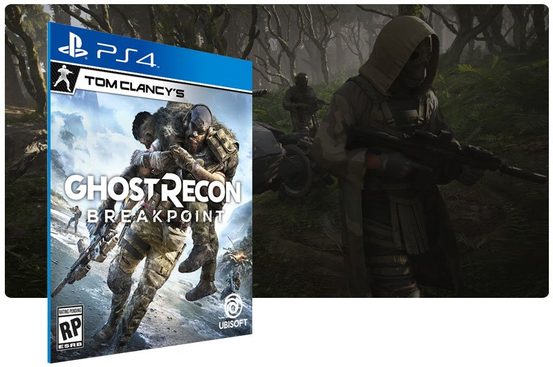 Banner do game Tom Clancy's Ghost Recon Breakpoint para PS4