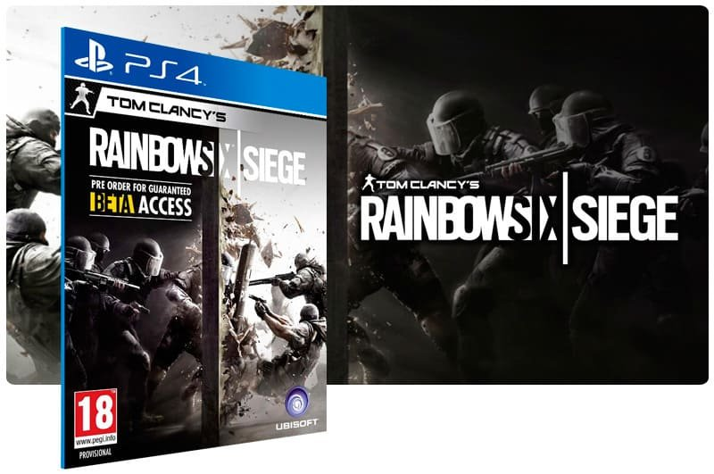 Banner do game Tom Clancys Rainbow Six Siege para PS4