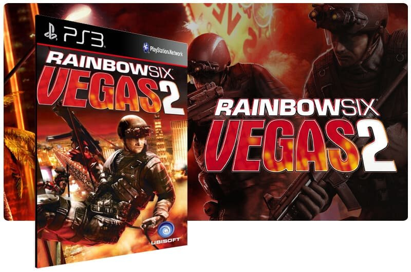 Banner do game Tom Clancys Rainbow Six Vegas 2 para PS3