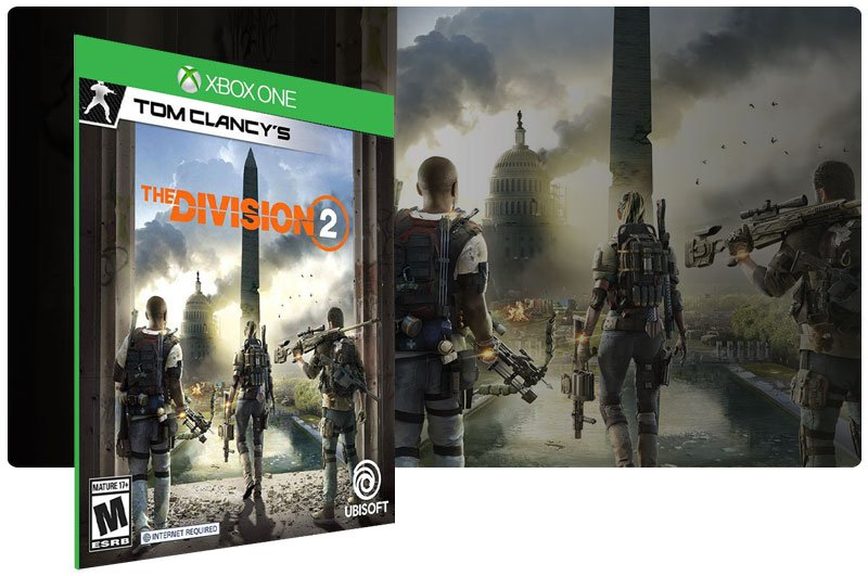 Banner do game Tom Clancy's The Division 2 Standard Edition em mídia digital para Xbox One