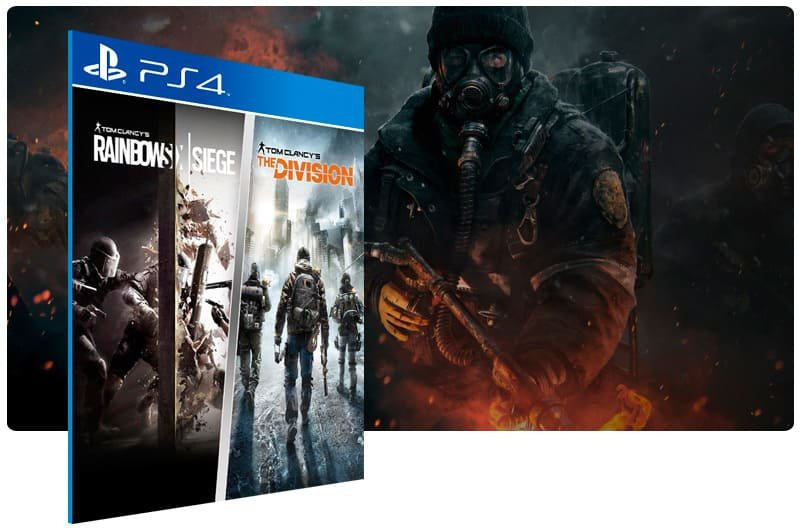 Banner do game Tom Clancy's The Division And Rainbow Six Siege Bundle para PS4