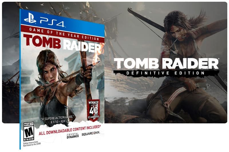 Banner do game Tomb Raider Definitive Edition para PS4