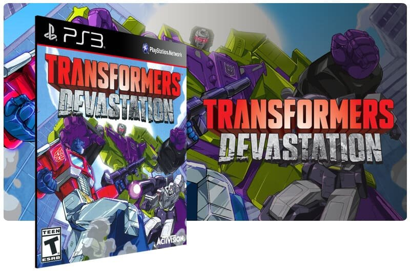 Banner do game Transformers Devastation para PS3