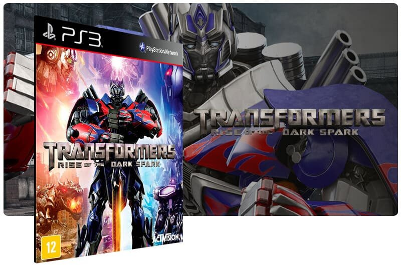 Banner do game Transformers Rise of The Dark Spark para PS3
