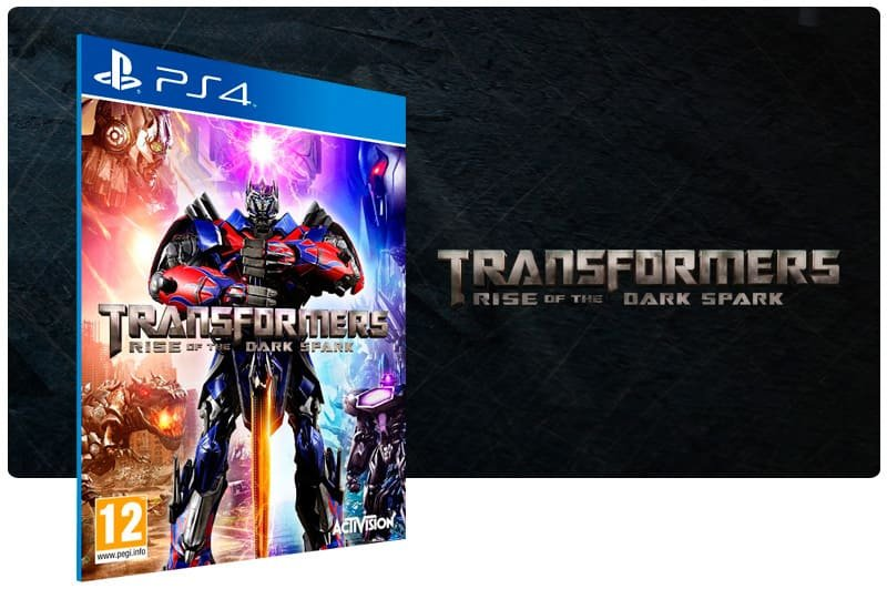 Banner do game Transformers Rise of The Dark Spark para PS4