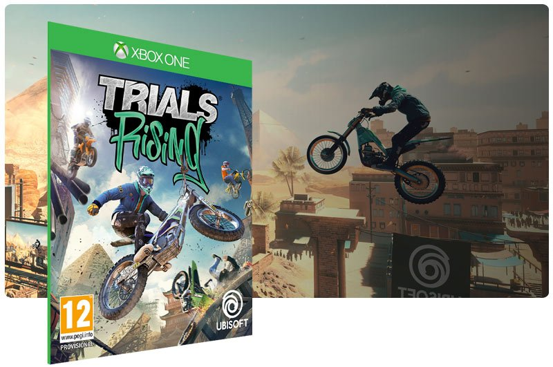Banner do game Trials Rising - Standard Edition em mídia digital para Xbox One