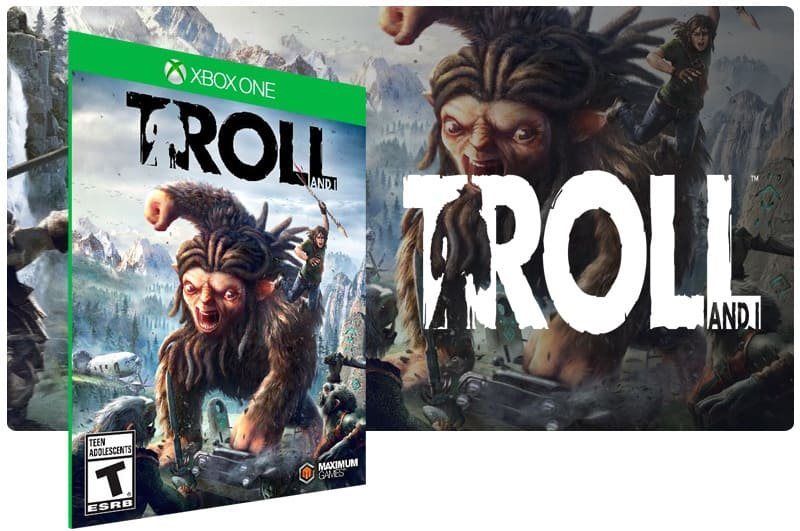 Banner do game Troll em mídia digital para Xbox One