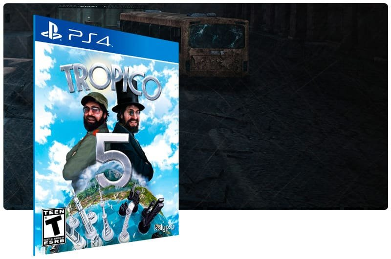 Banner do game Tropico 5 para PS4