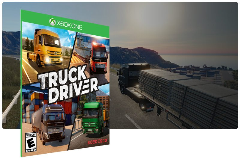 Banner do game Truck Driver em mídia digital para Xbox One