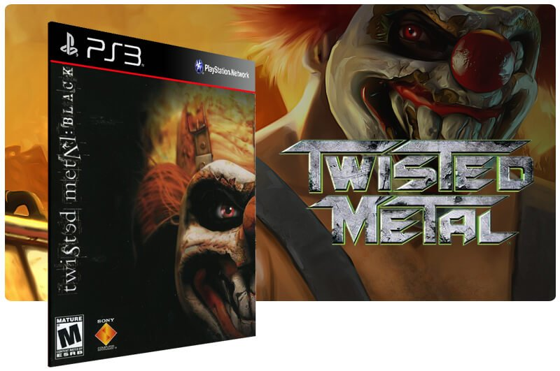 Banner do game Twisted Metal Black para PS3