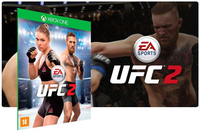 Banner do game UFC 2 em mídia digital para Xbox One