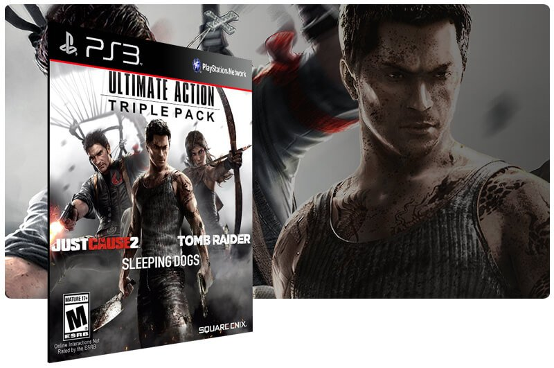 Banner do game Ultimate Action Triple Pack para PS3