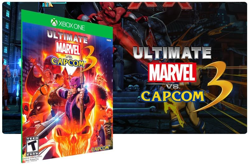 Banner do game Ultimate Marvel Vs Capcom 3 em mídia digital para Xbox One