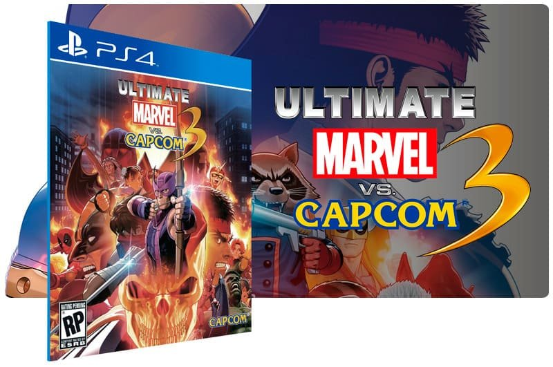 Banner do game Ultimate Marvel Vs. Capcom 3 para PS4
