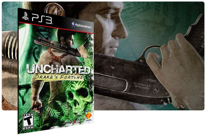 Banner do game Uncharted: Drakes Fortune para PS3