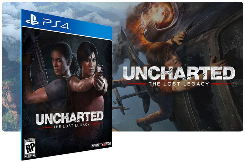 Banner do game Uncharted The Lost Legacy para PS4