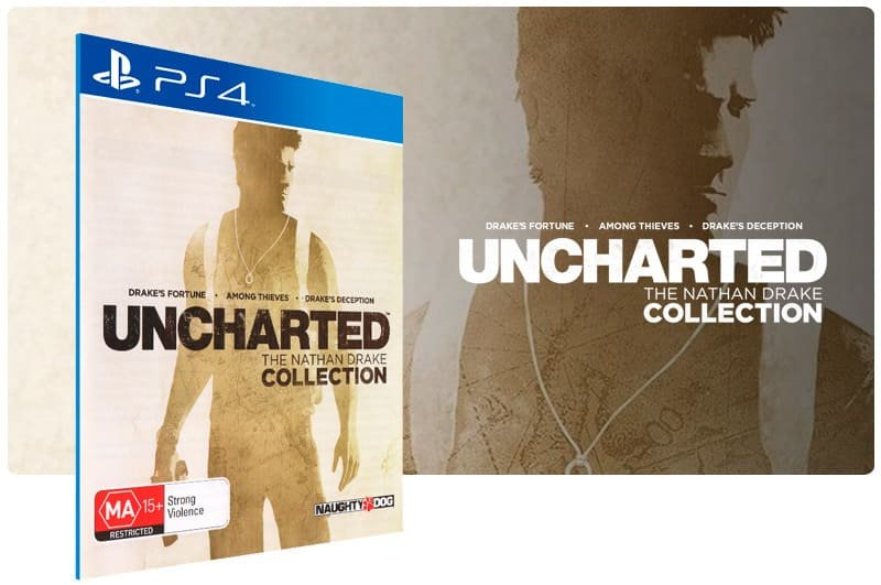 Banner do game Uncharted The Nathan Drake Collection para PS4