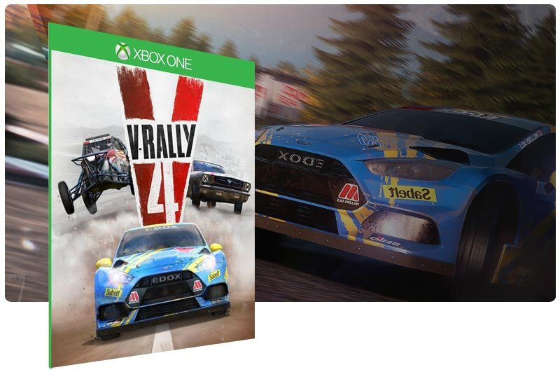 Banner do game V-Rally 4 em mídia digital para Xbox One