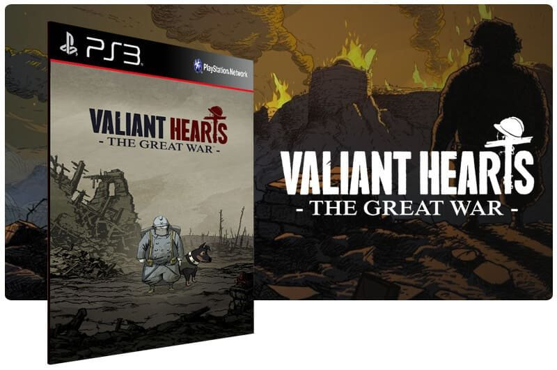 Banner do game Valiant Hearts The Great War para PS3