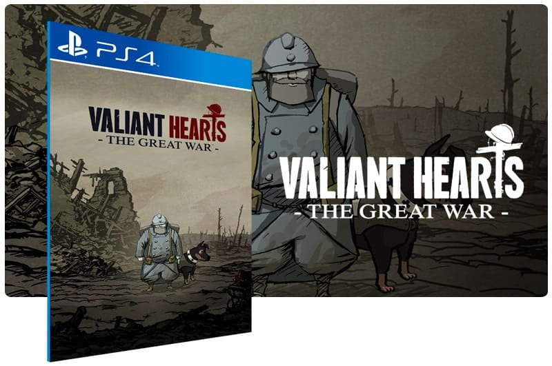 Banner do game Valiant Hearts The Great War para PS4