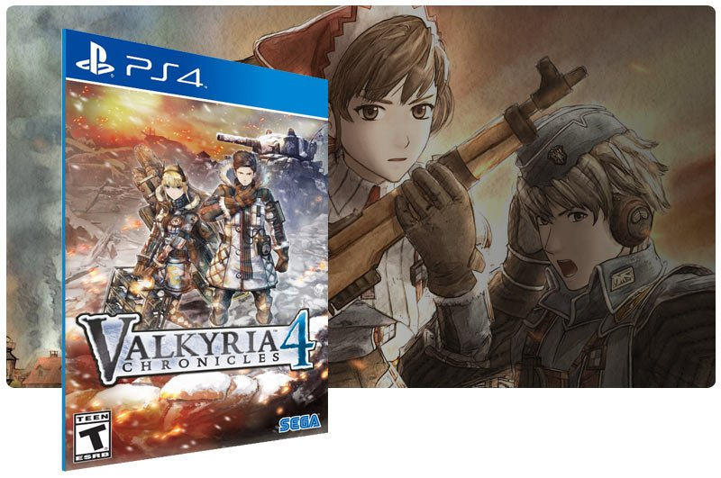 Banner do game Valkyria Chronicles 4 para PS4