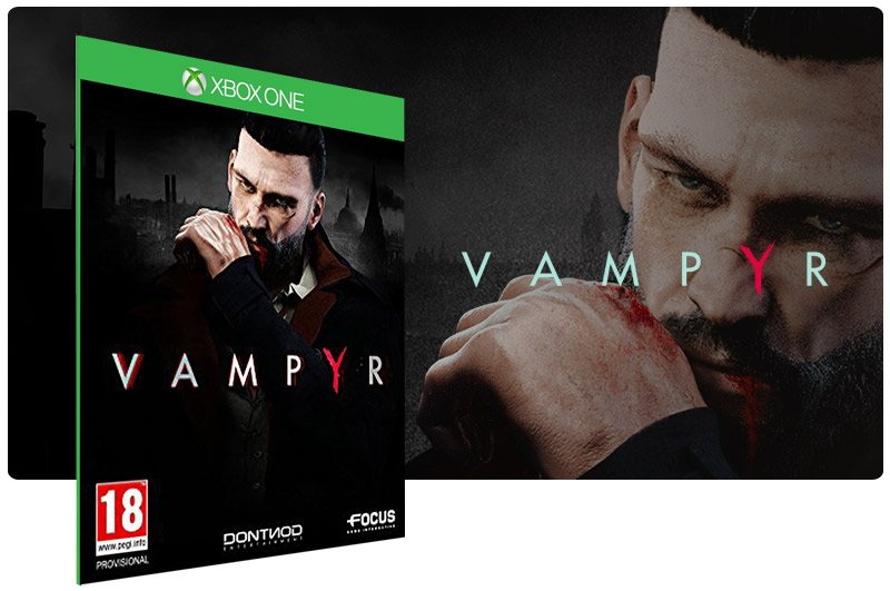 Banner do game Vampyr em mídia digital para Xbox One