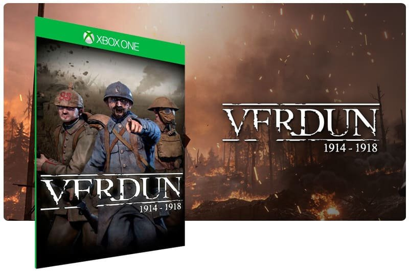 Banner do game Verdun em mídia digital para Xbox One