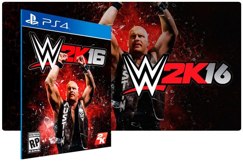 Banner do game WWE 2K16 para PS4