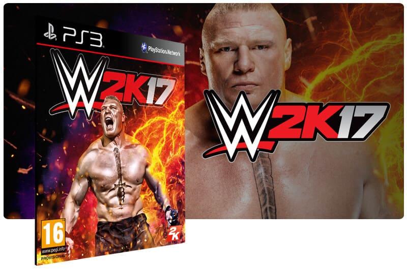 Banner do game WWE 2K17 para PS3