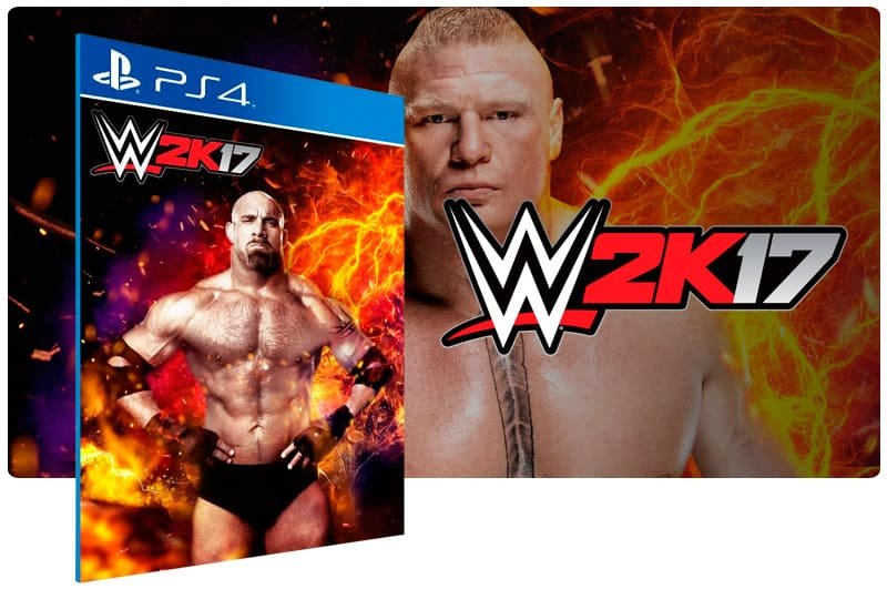 Banner do game WWE 2K17 para PS4