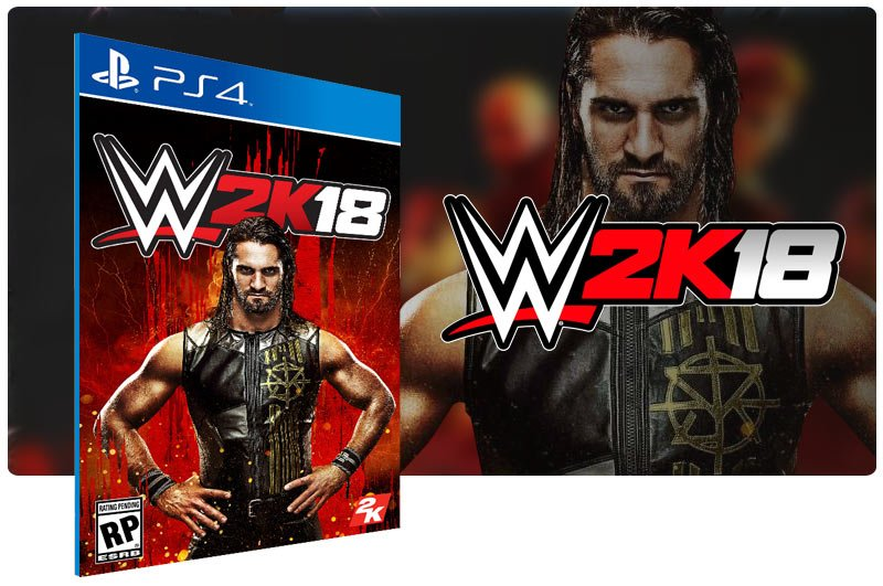 Banner do game WWE 2K18 para PS4