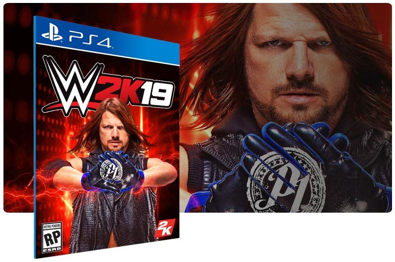 Banner do game WWE 2K19 para PS4