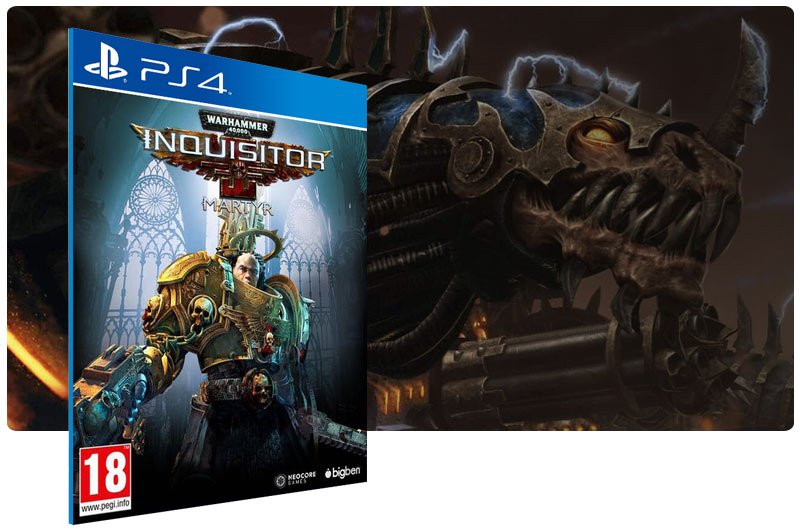 Banner do game Warhammer 40,000 Inquisitor - Martyr para PS4